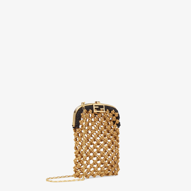 FENDI BAGUETTE PHONE BAG - Beige fabric mini-bag - view 2 detail