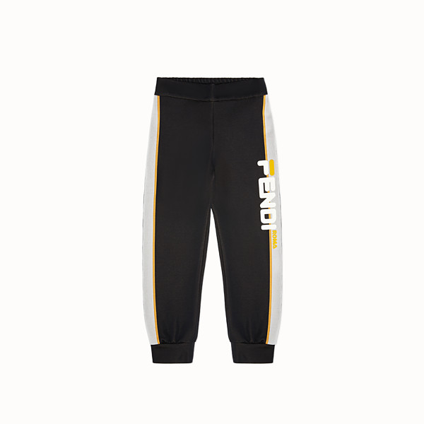 FENDI TROUSERS - Black knit trousers - view 1 small thumbnail