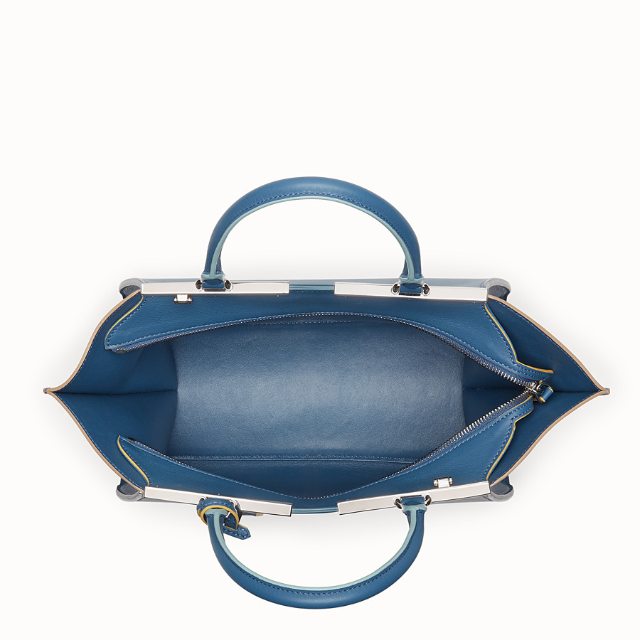 FENDI 3JOURS - Blue leather bag - view 4 detail