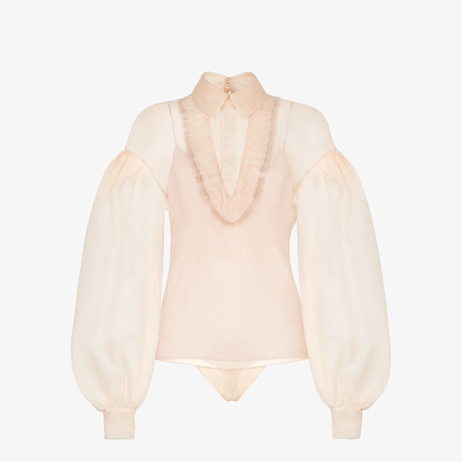 FENDI SHIRT - Pink sea silk blouse - view 1 detail