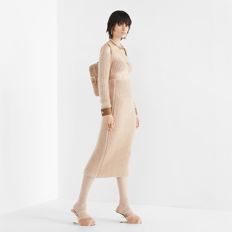 FENDI SKIRT - Pink mohair skirt - view 4 detail