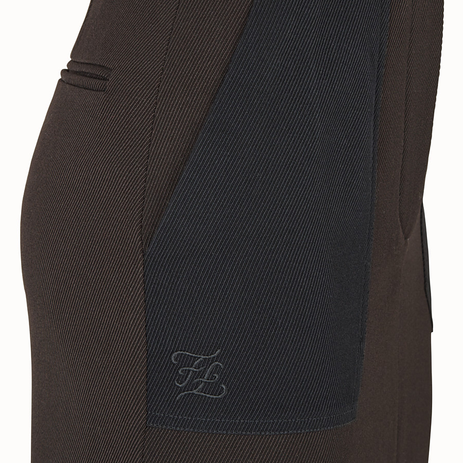 FENDI SKIRT - Black gabardine skirt - view 3 detail