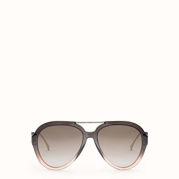 FENDI TROPICAL SHINE - Lunettes de soleil gris et rose - view 1 small thumbnail