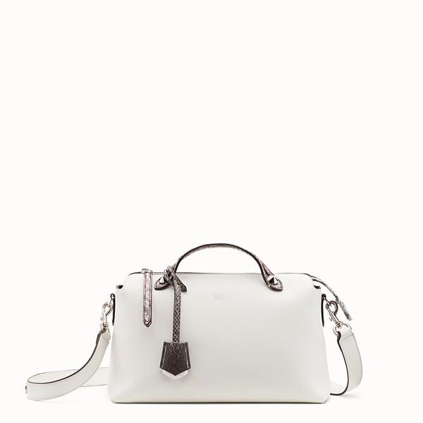 FENDI BY THE WAY REGULAR - Exotic white leather Boston bag - view 1 small thumbnail