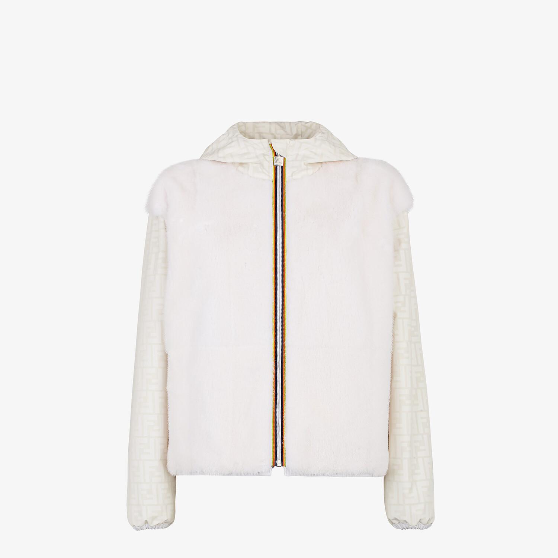 FENDI WINDBREAKER - White mink jacket - view 1 detail