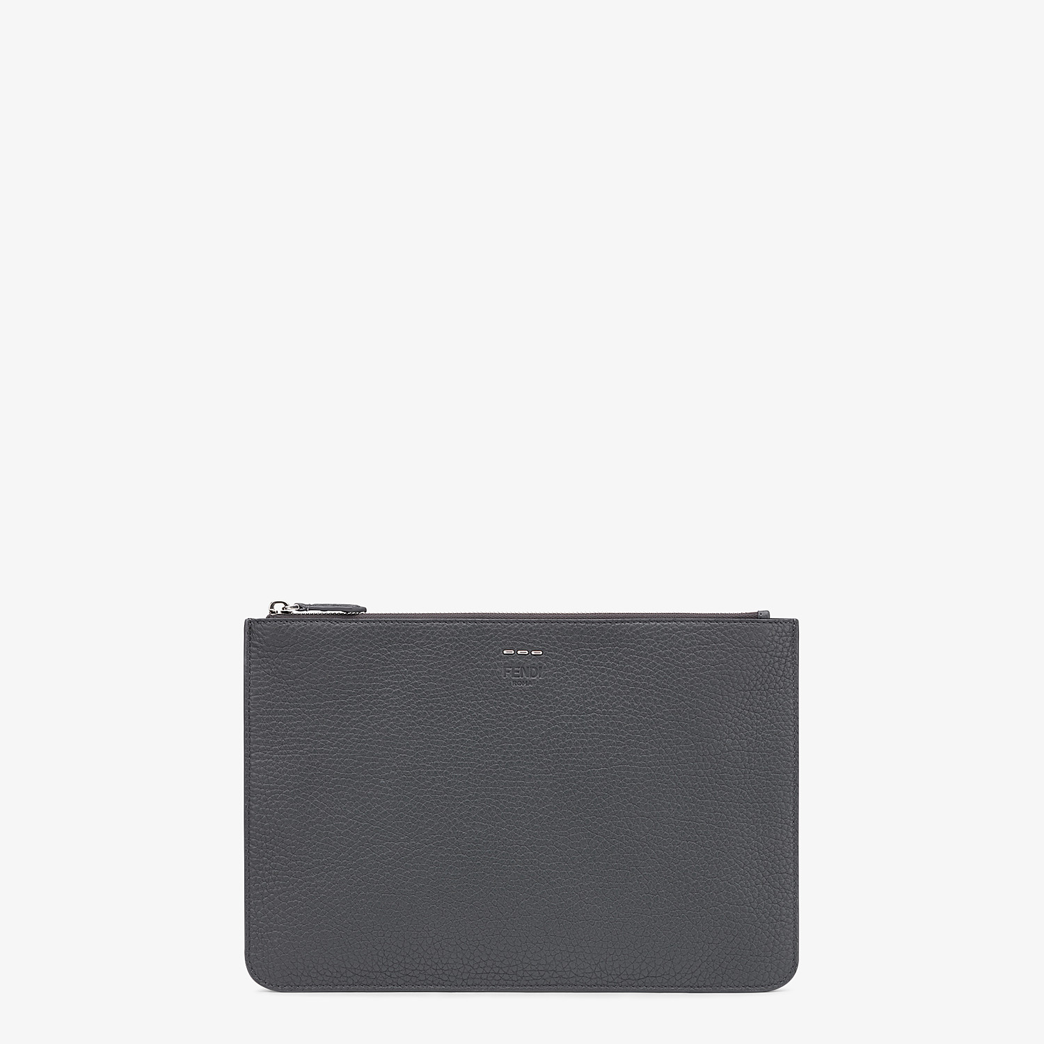 FENDI POUCH - Multicolor leather slim pouch - view 1 detail