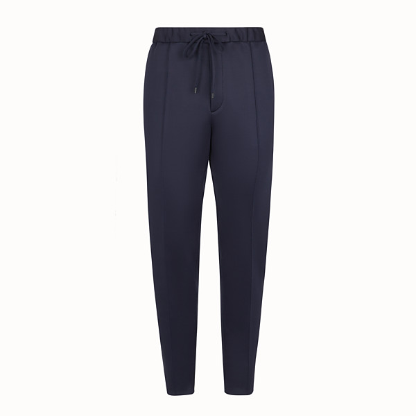 FENDI TROUSERS - Blue jersey trousers - view 1 small thumbnail