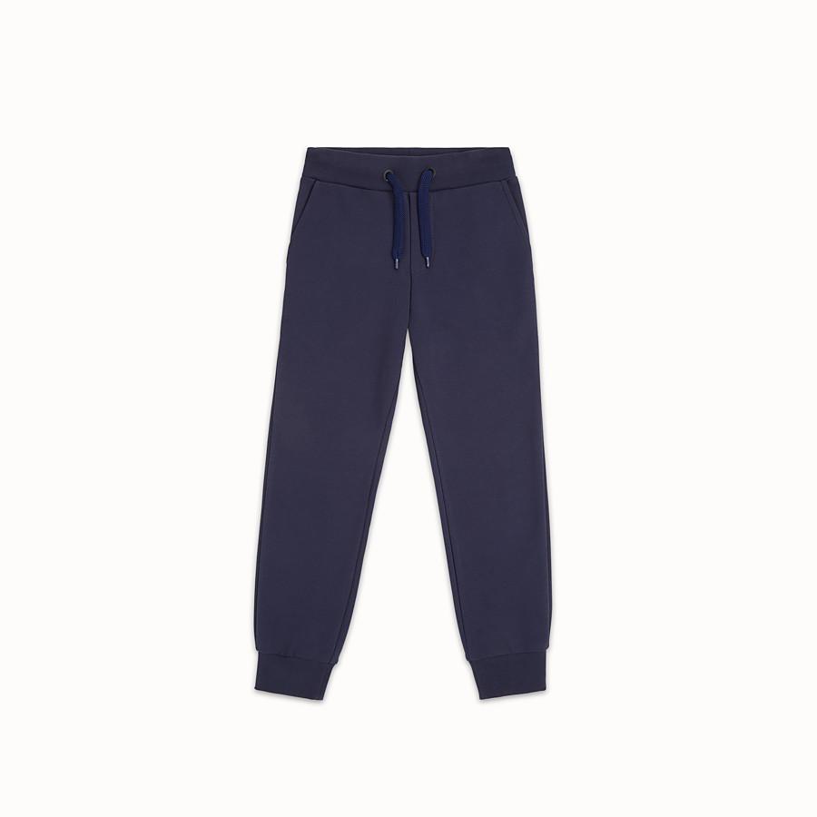 FENDI PANTALON - Pantalon en polaire bleue - view 1 detail