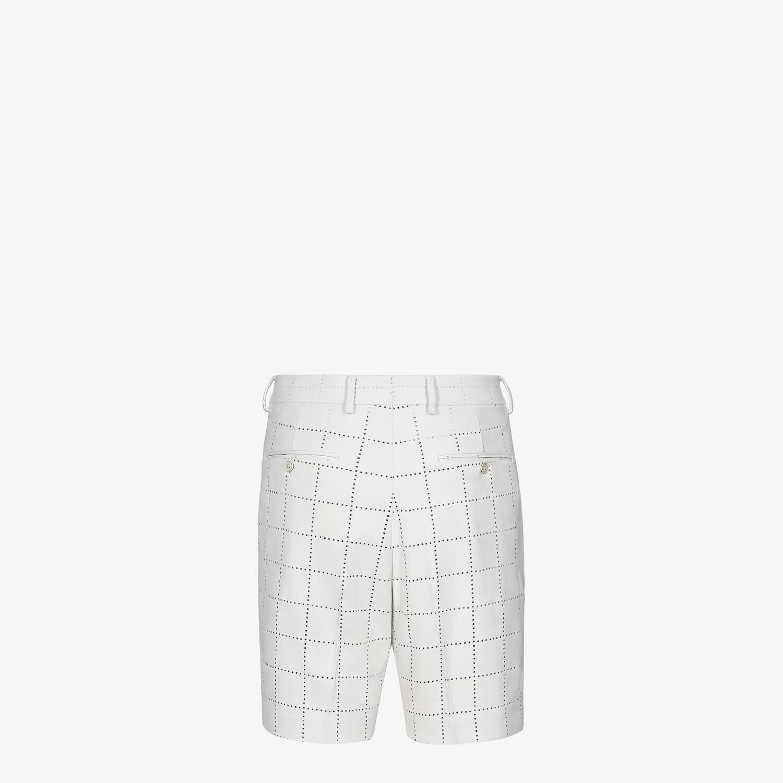 FENDI BERMUDAS - White wool pants - view 2 detail