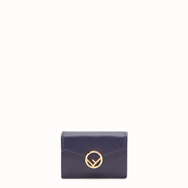 FENDI MICRO TRIFOLD - Blue leather wallet - view 1 small thumbnail