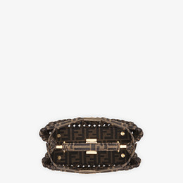 FENDI PEEKABOO ICONIC MINI - Jacquard fabric interlace bag - view 5 thumbnail