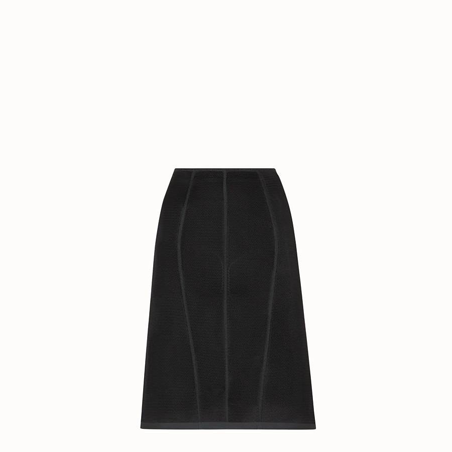 FENDI SKIRT - Black micromesh skirt - view 1 detail