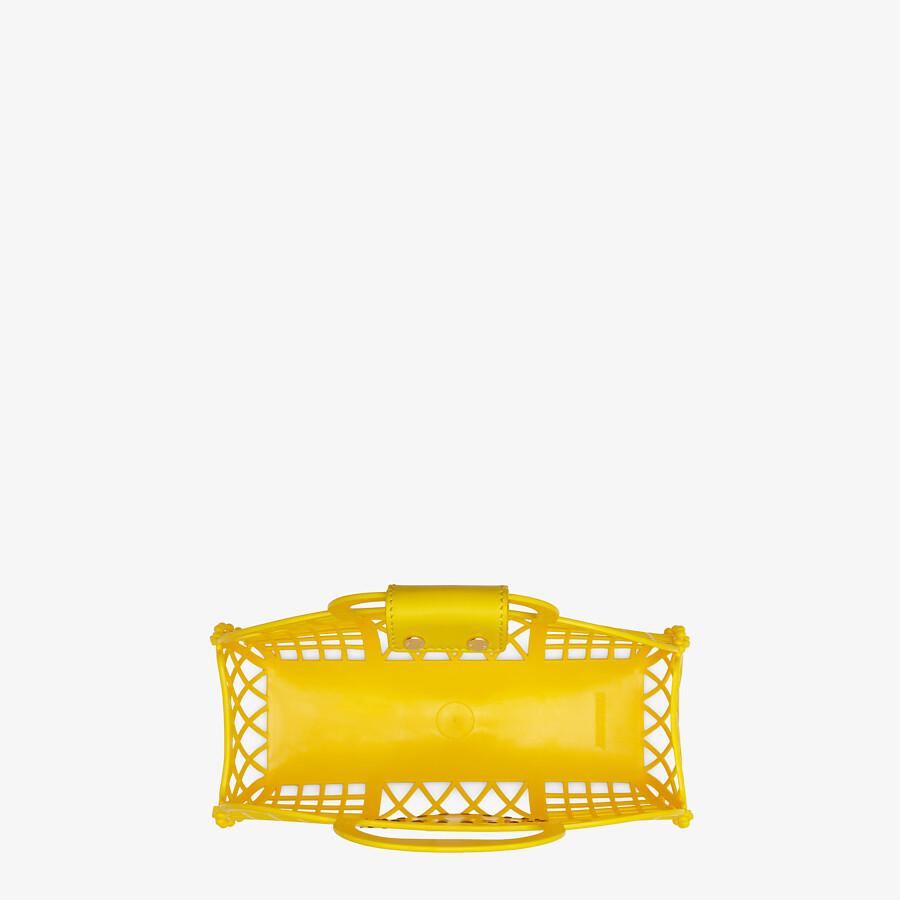 FENDI FENDI BASKET SMALL - Yellow recycled plastic mini-bag - view 5 detail