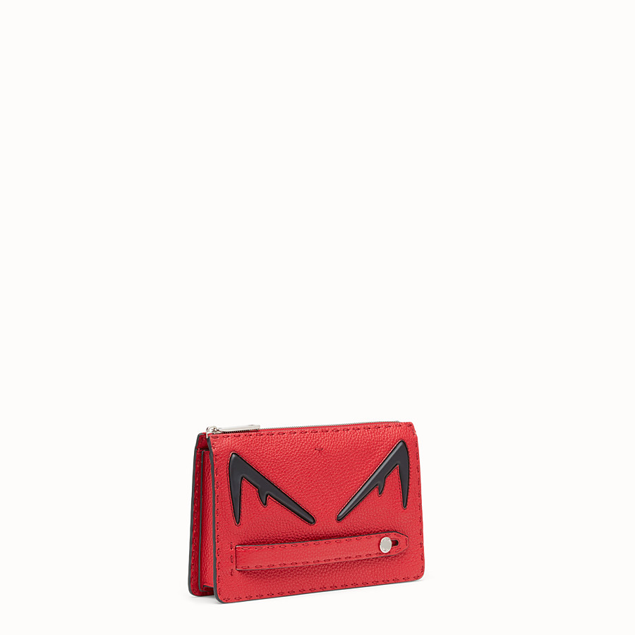 FENDI CLUTCH - Red Romano leather pochette - view 2 detail