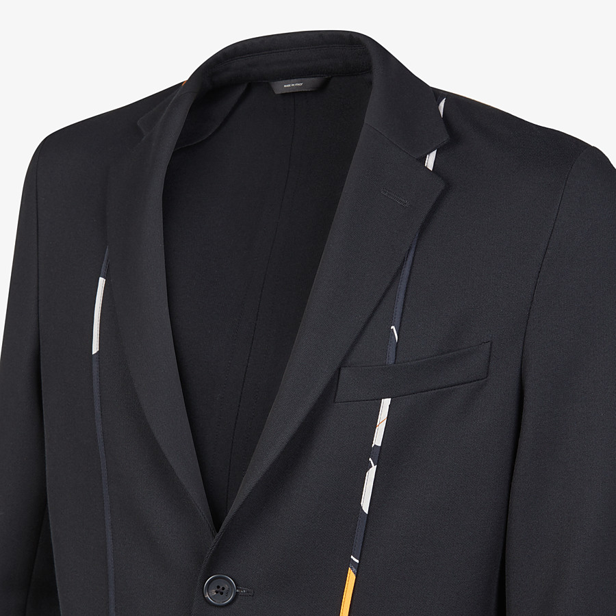 FENDI JACKET - Black twill blazer - view 4 detail