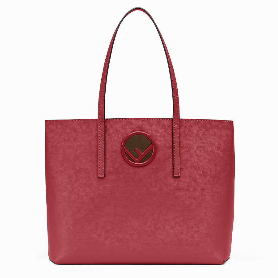 FENDI SHOPPING LOGO - Shopper in pelle rossa - vista 1 dettaglio
