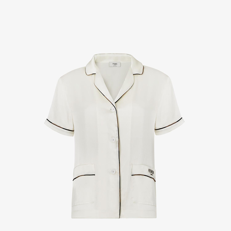 FENDI TRAVEL SET - White silk pyjamas - view 2 detail