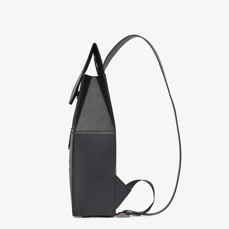 FENDI FENDI PACK BACKPACK - Black leather backpack - view 2 detail