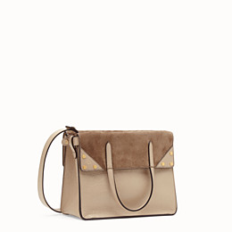 FENDI FENDI FLIP MEDIUM - Beige leather bag - view 4 thumbnail