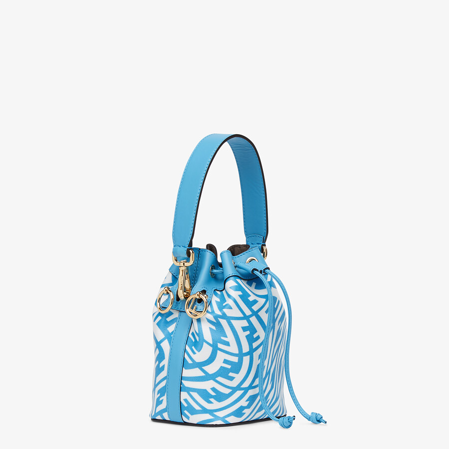 FENDI MON TRESOR - Blue glazed canvas mini-bag - view 3 detail