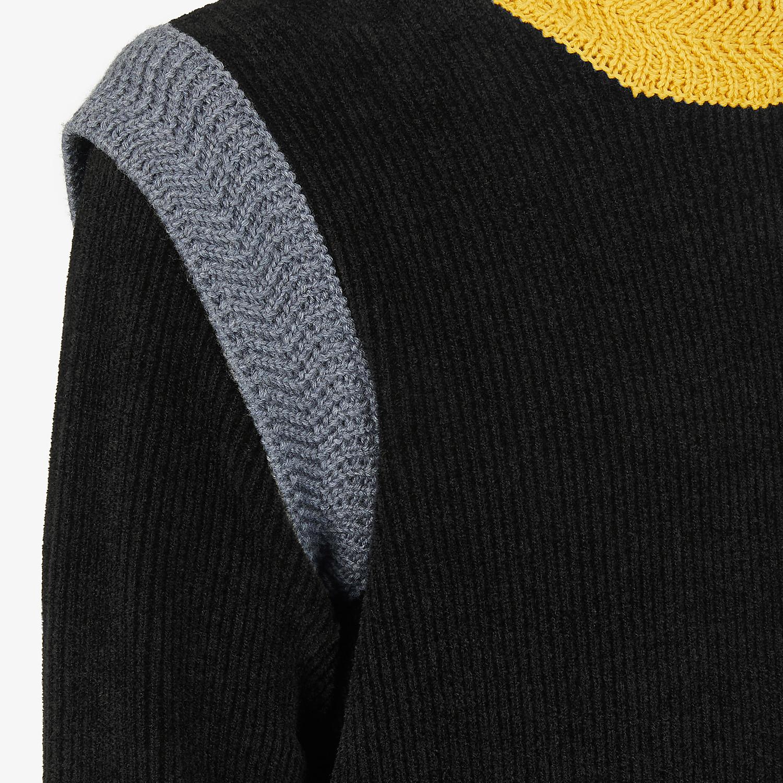 FENDI SWEATER - Sweater in black chenille - view 3 detail