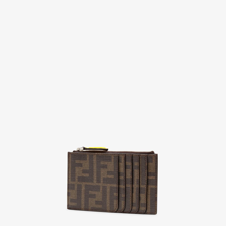 FENDI COIN PURSE - Coin purse in brown fabric - view 2 detail