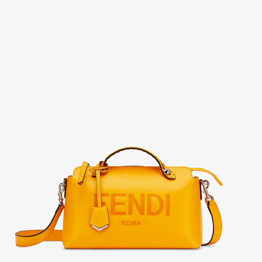 FENDI BY THE WAY MEDIUM - Orange leather Boston bag - view 1 detail