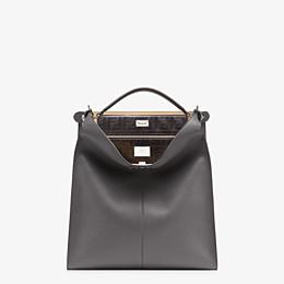 FENDI PEEKABOO X-LITE FIT - Grey leather bag - view 2 thumbnail