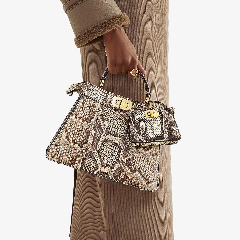FENDI PEEKABOO ISEEU SMALL - Natural python leather bag - view 2 detail