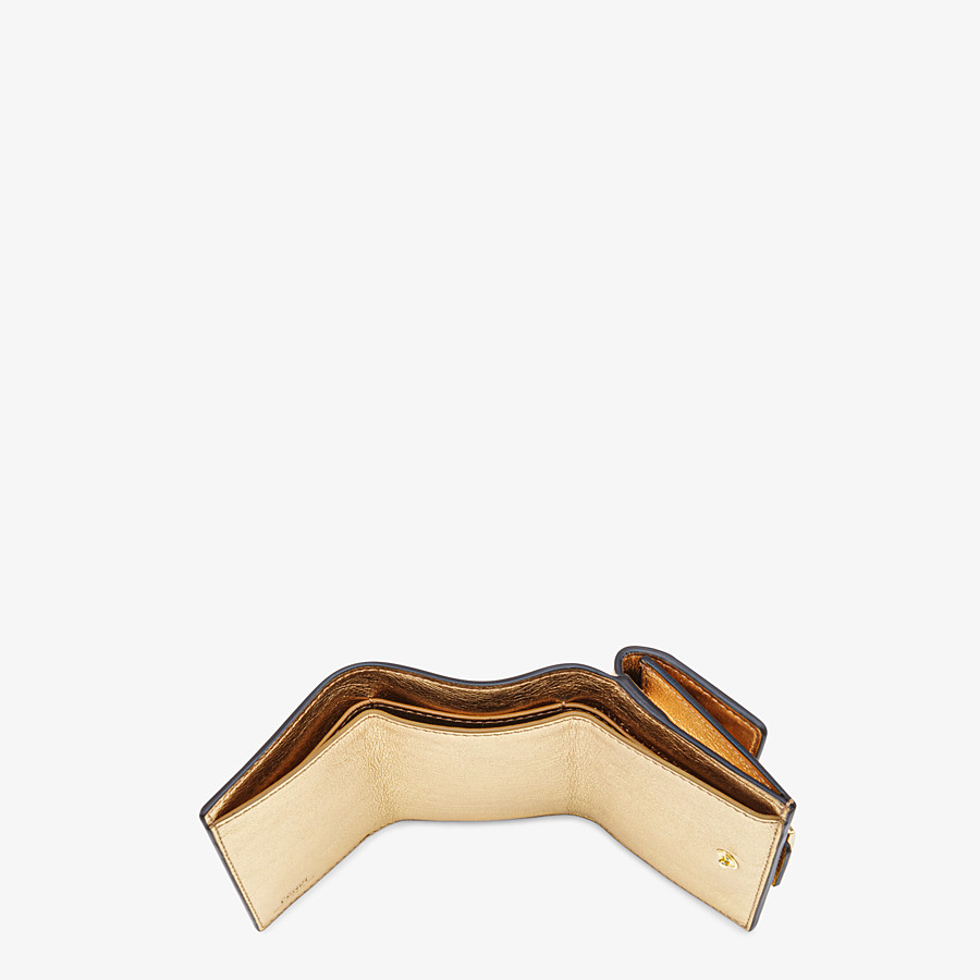 FENDI MICRO TRIFOLD - Wallet in golden leather - view 4 detail