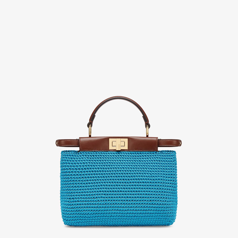FENDI PEEKABOO MINI - Blue cotton crochet bag - view 1 detail