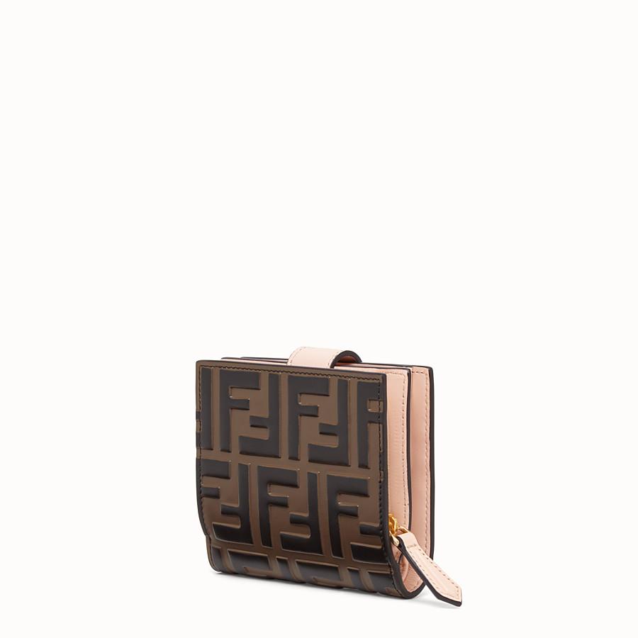 FENDI 二つ折り財布 - ブラウン レザー コンパクト財布 - view 2 detail