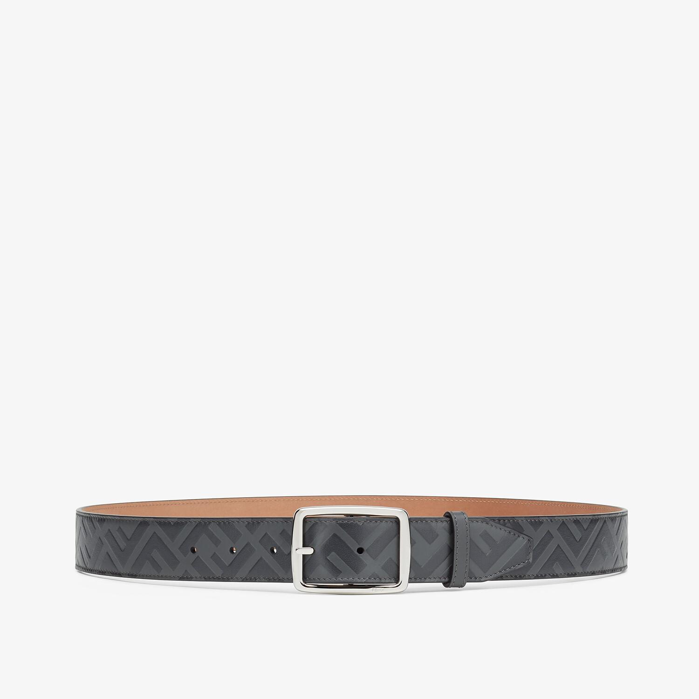 FENDI BELT - Gray leather belt - view 1 detail