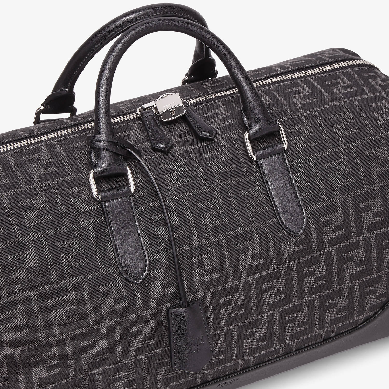 FENDI MEDIUM DUFFLE - FF jacquard fabric large bag - view 5 detail