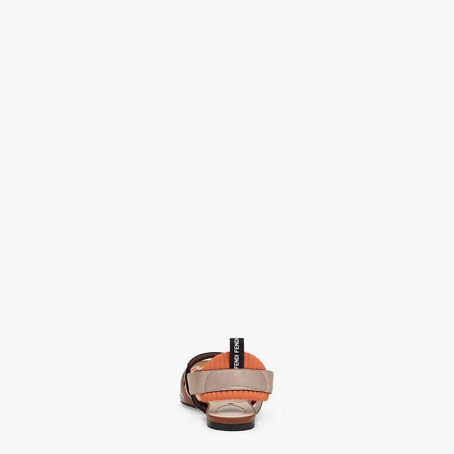 FENDI SLINGBACK - Orange leather and PU Colibrì - view 3 detail