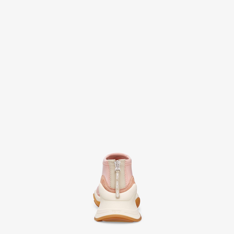 FENDI SNEAKERS - Glossy pink neoprene sneakers - view 3 detail