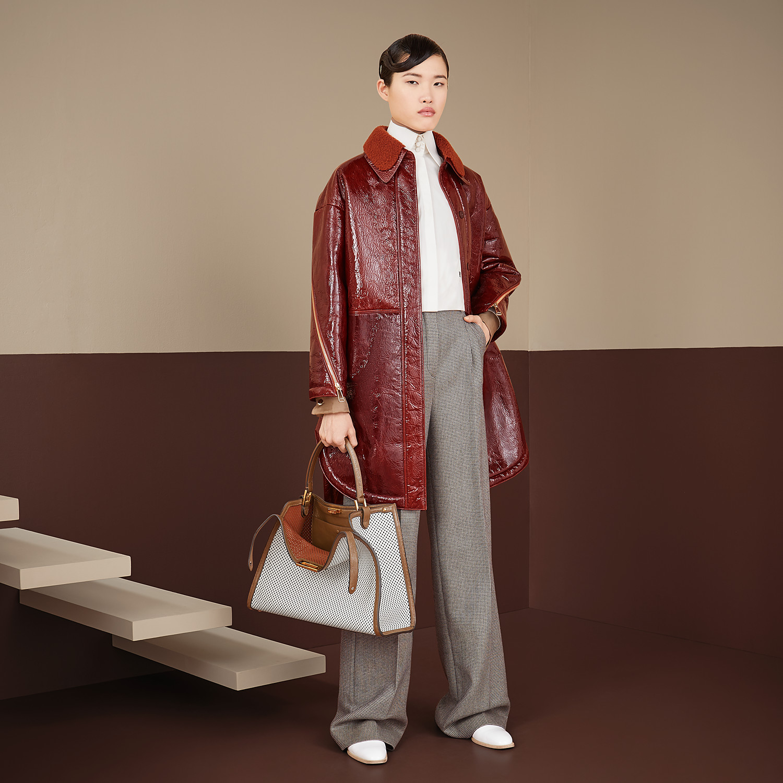 FENDI PANTS - Brown wool pants - view 4 detail