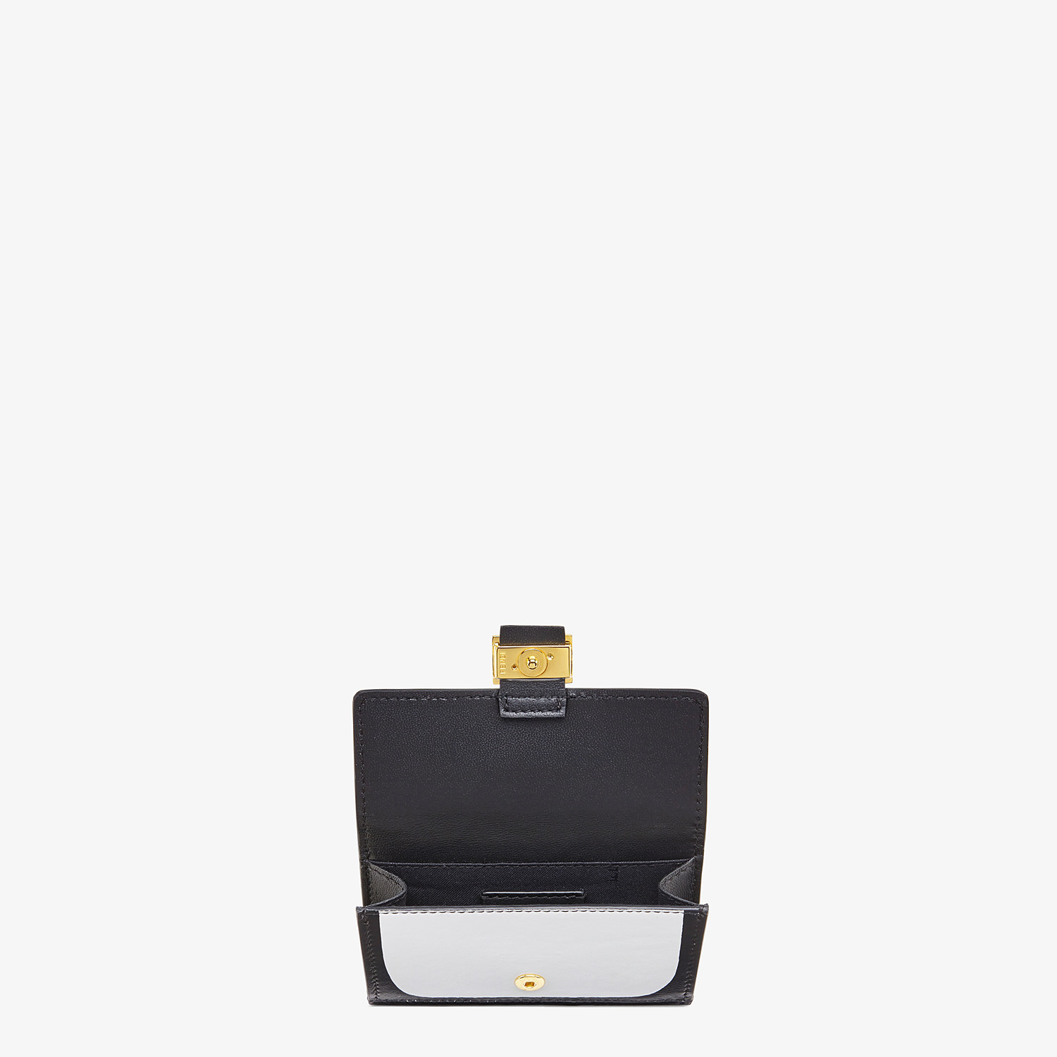 FENDI CARD HOLDER - White nappa leather card holder - view 3 detail