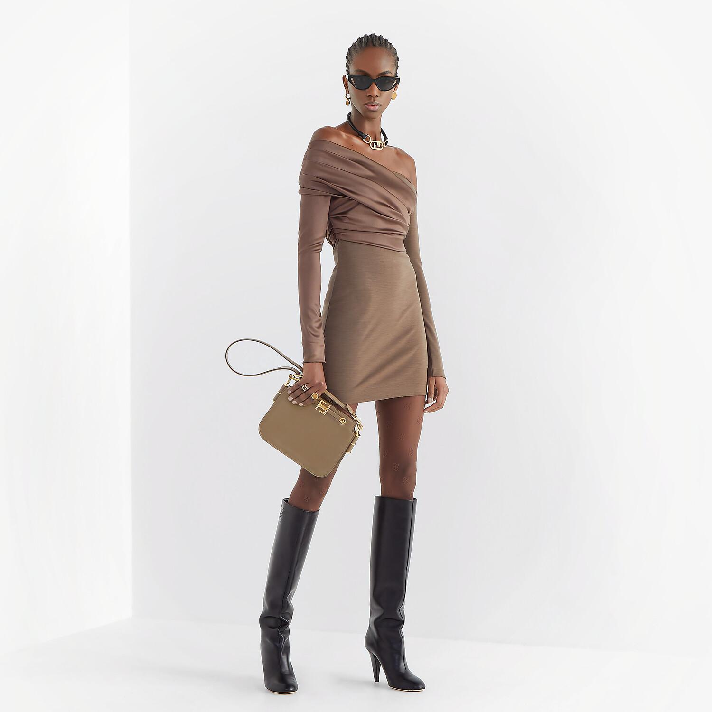FENDI DRESS - Brown jersey dress - view 4 detail