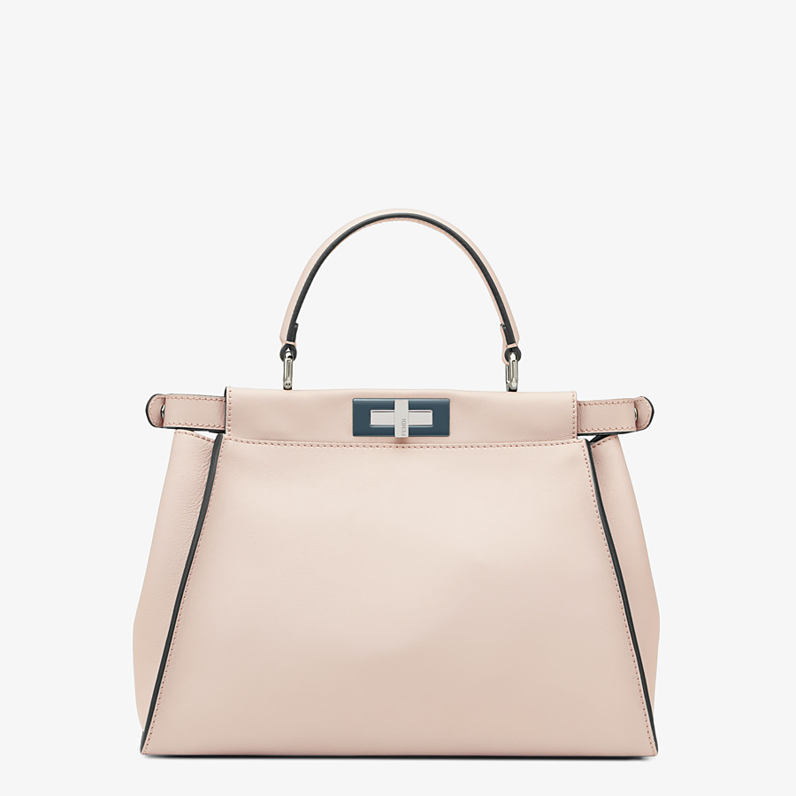 FENDI PEEKABOO ICONIC MEDIUM - Pink leather bag - view 3 detail