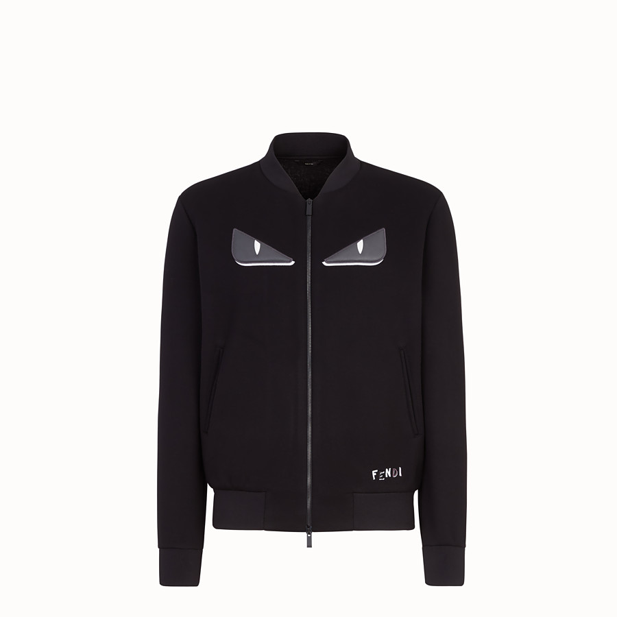 FENDI BOMBER - Black fabric jacket - view 1 detail