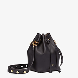 FENDI MON TRESOR - Black leather bag - view 2 thumbnail