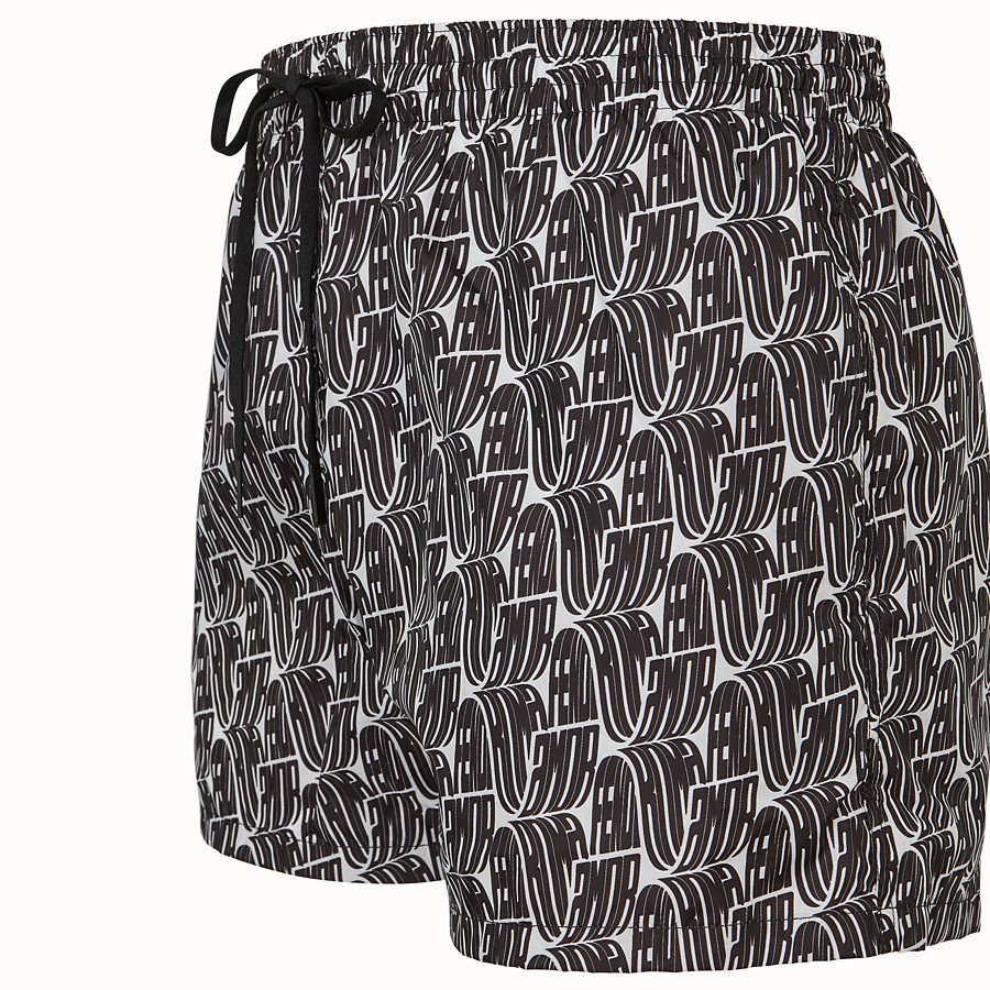 FENDI SWIM SHORTS - Fendi Roma Amor tech fabric shorts - view 3 detail
