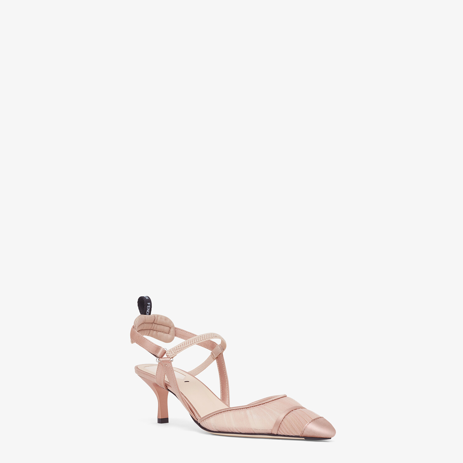 FENDI SLINGBACK - Pink tulle and satin Colibrì - view 2 detail