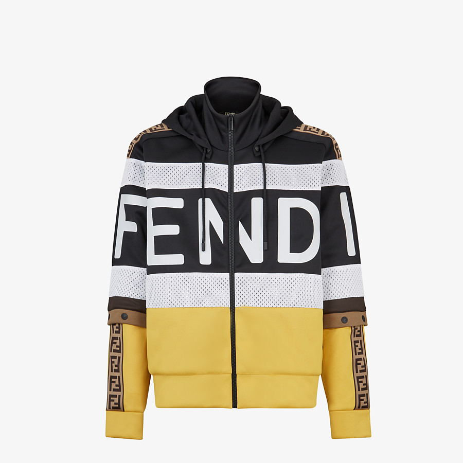 FENDI SWEATSHIRT - Multicolour acetate sweatshirt - view 1 detail
