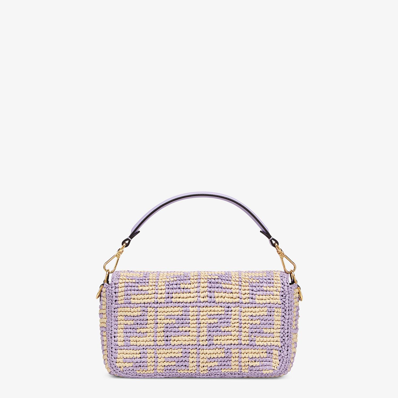 FENDI BAGUETTE - Lilac raffia FF bag - view 3 detail