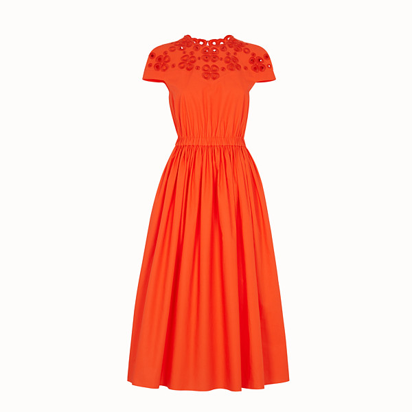 FENDI DRESS - Orange taffeta dress - view 1 small thumbnail