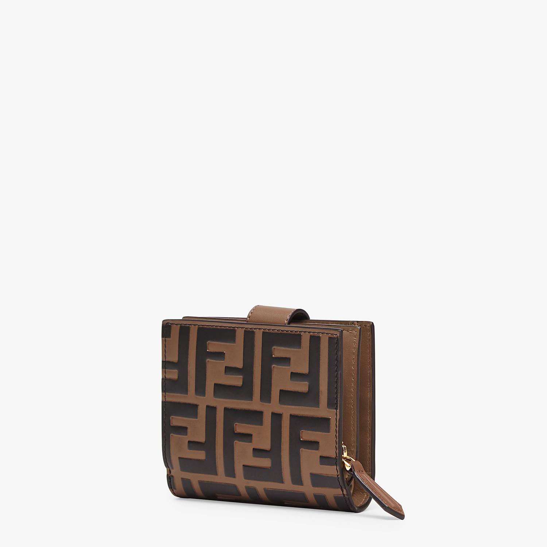 FENDI BIFOLD - Kompaktes Portemonnaie aus Leder in Braun - view 2 detail