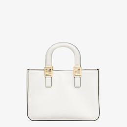 FENDI FF TOTE SMALL - White leather bag - view 3 thumbnail