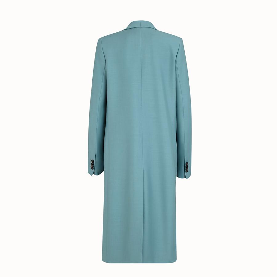 FENDI COAT - Light blue kid mohair coat - view 2 detail